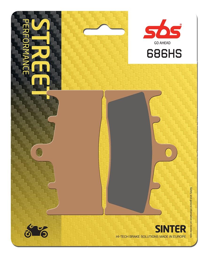 Plaquettes de frein moto SBS 686HS