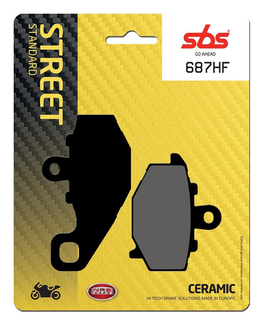 Plaquettes de frein moto SBS 687HF