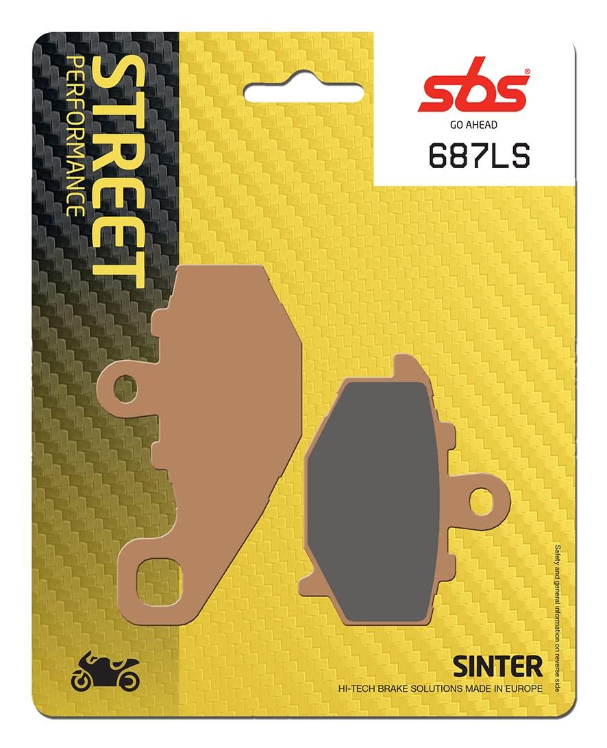 Plaquettes de frein moto SBS 687LS