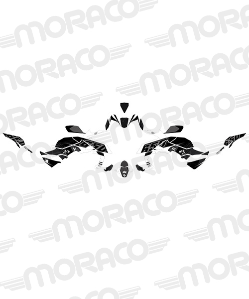 Kit Deco UP MAXIMIZE KAWASAKI Z 650 2017 noir-blan