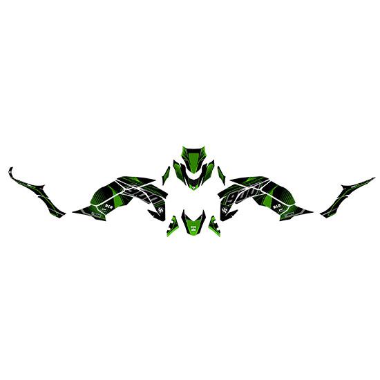Kit Deco UP MAXIMIZE KAWASAKI Z 900 2017 noir-vert