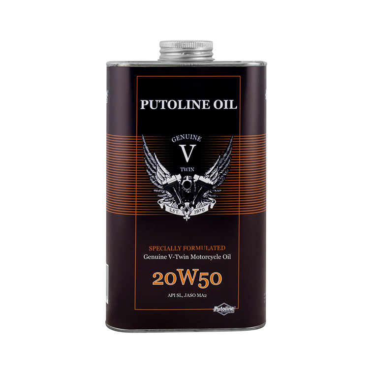 1 L H. Moteur Putoline Genuine V-Twin 20W50
