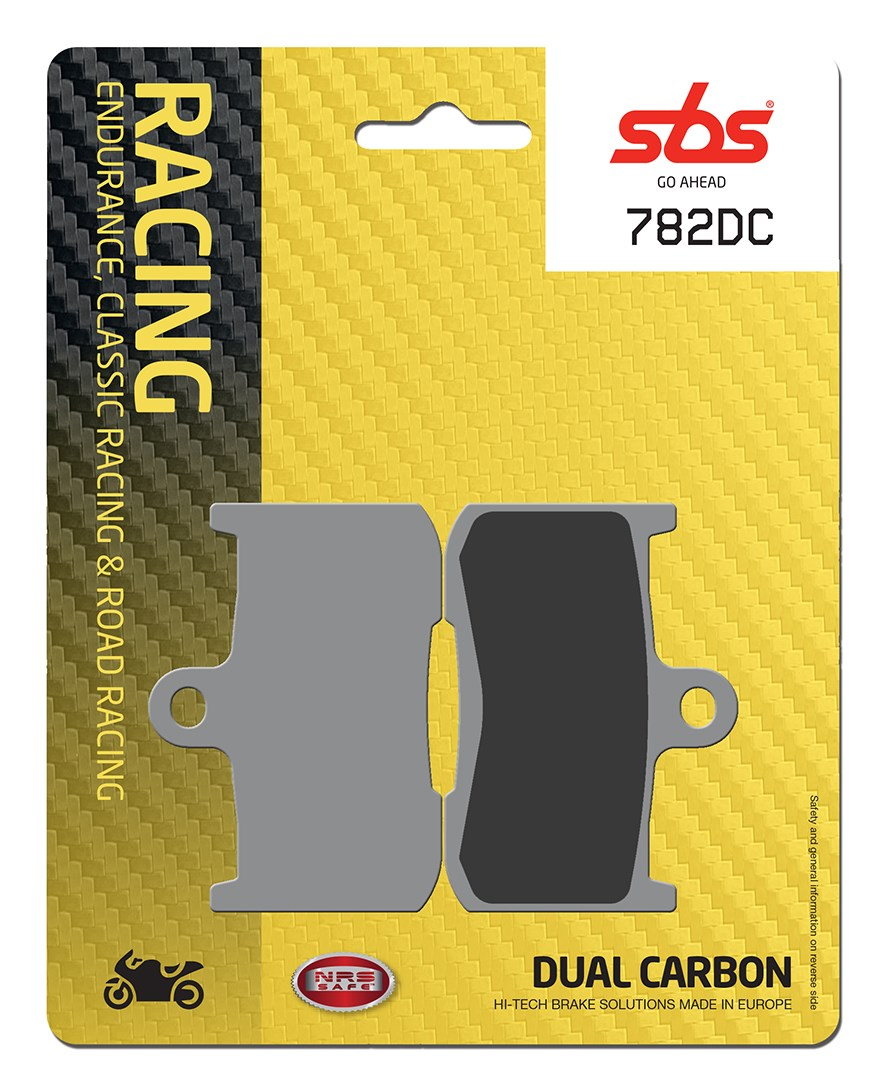 Plaquettes de frein moto racing SBS 782DC