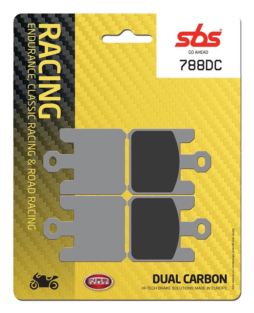 Plaquettes de frein moto racing SBS 788DC