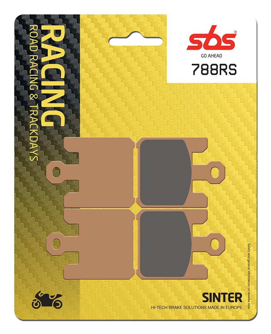 Plaquettes de frein moto racing SBS 788RS