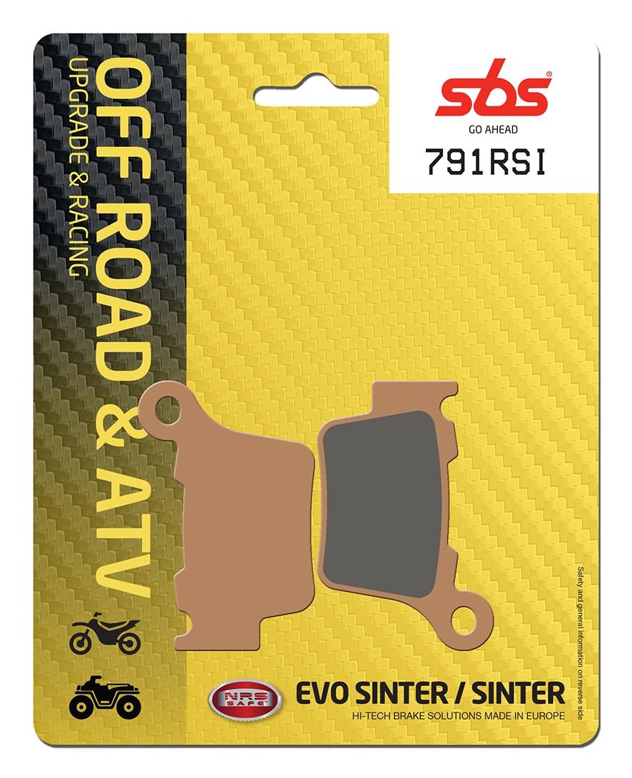 Plaquettes de frein moto racing SBS 791RSI