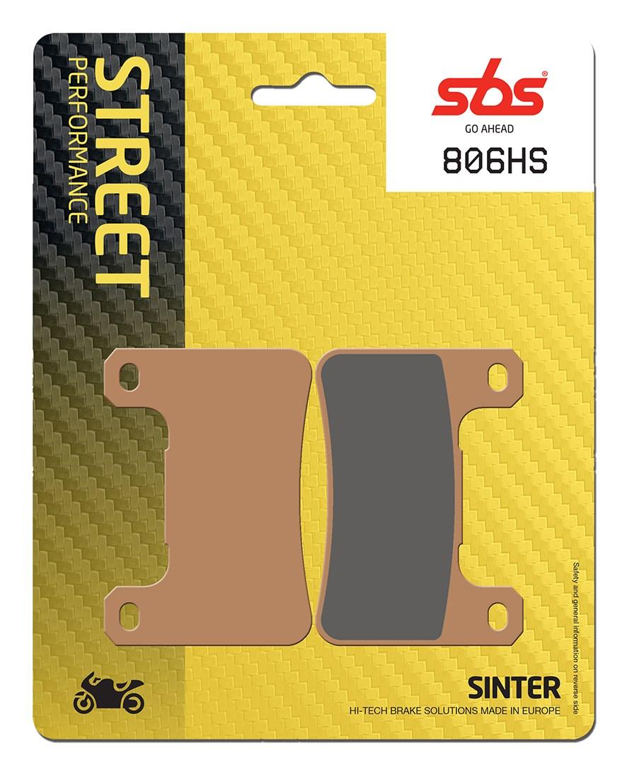 Plaquettes de frein moto SBS 806HS