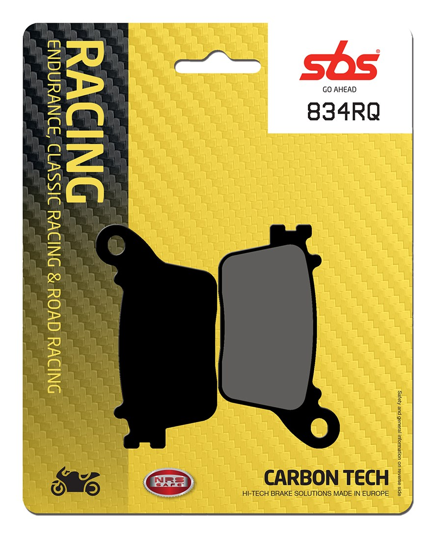 Plaquettes de frein moto racing SBS 834RQ