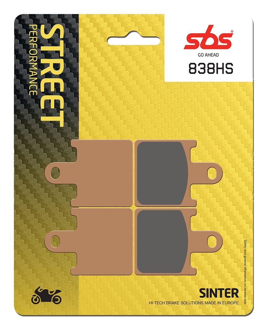 Plaquettes de frein moto SBS 838HS