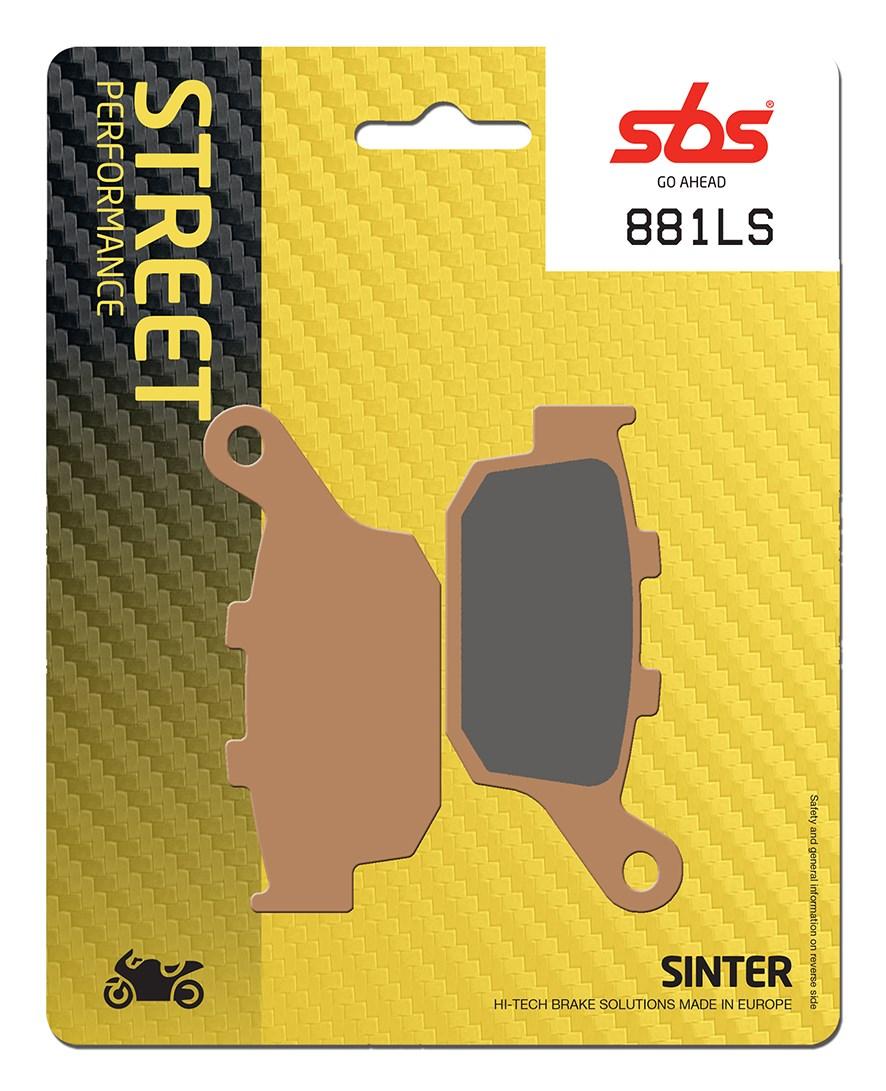 Plaquettes de frein moto SBS 881LS
