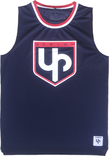 Maillot de basket UP bleu marine