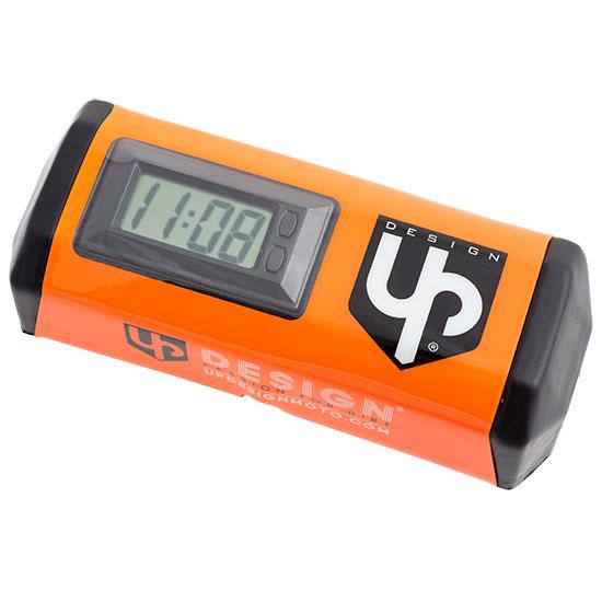 Mousse de Guidon UP Horloge intégré Orange