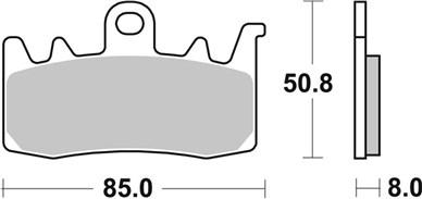 Plaquettes de frein moto SBS 900HS