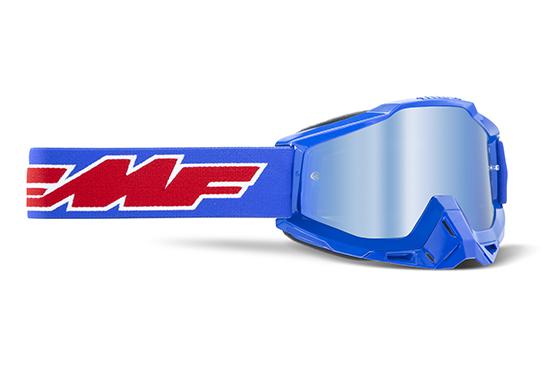 FMF POWERBOMB Masque Rocket Blue - écran Bleu miroir