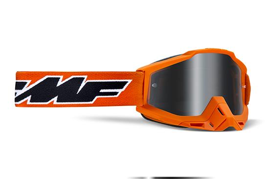 FMF POWERBOMB Masque Rocket Orange - écran argent miroir