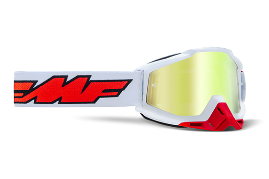 FMF POWERBOMB Masque Rocket White - écran or réaliste