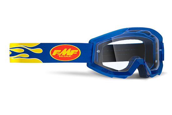 FMF POWERCORE Masque Flame Navy - écran tranparent