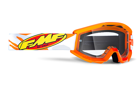 FMF POWERCORE Masque Assault Grey - écran tranparent