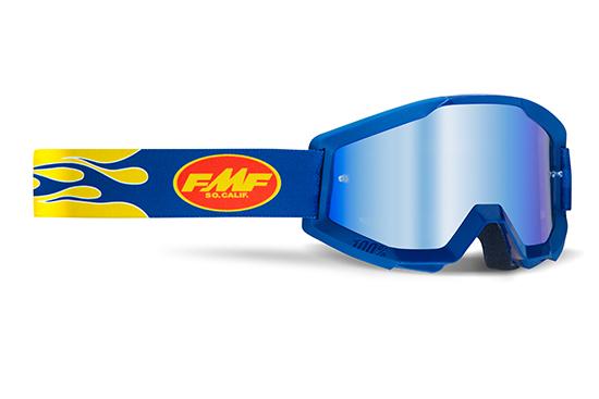 FMF POWERCORE Masque Flame Navy - écran Bleu miroir