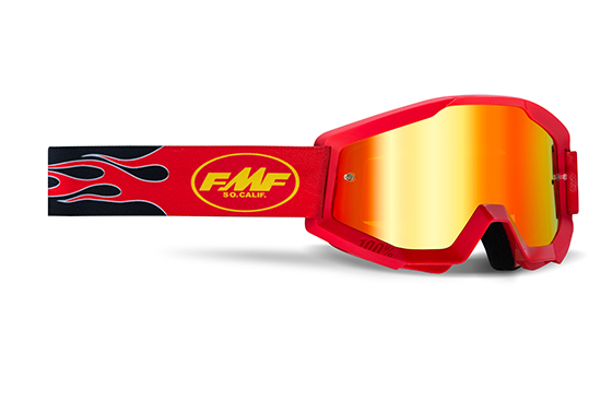 FMF POWERCORE Masque Flame Red - écran rouge miroir