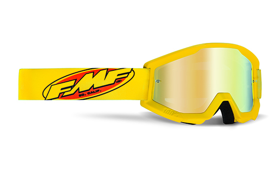 FMF POWERCORE Masque Core Yellow - écran or miroir