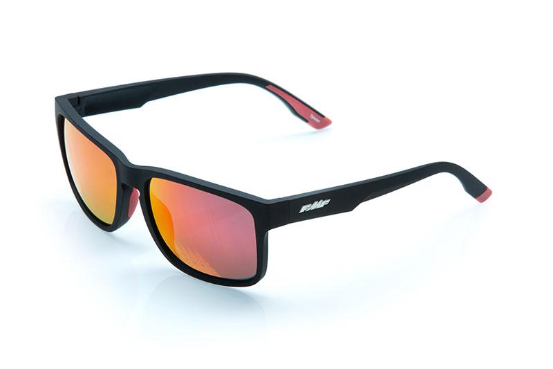 FMF GEARS Lunettes de soleil Matte Black- Red Mirror Lens