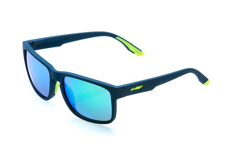 FMF GEARS Lunettes de soleil Matte Petrol Blue - Green Mirro