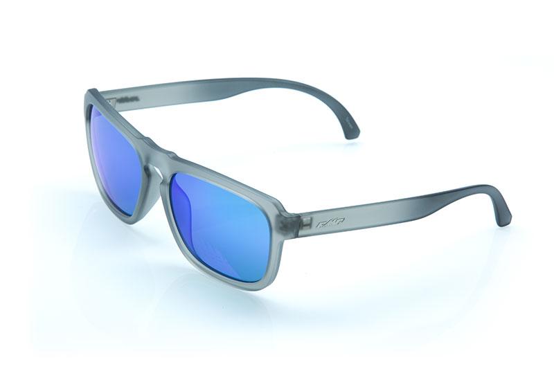 FMF EMLER Lunettes de soleil Matte Crystal Smoke - Blue Mirr