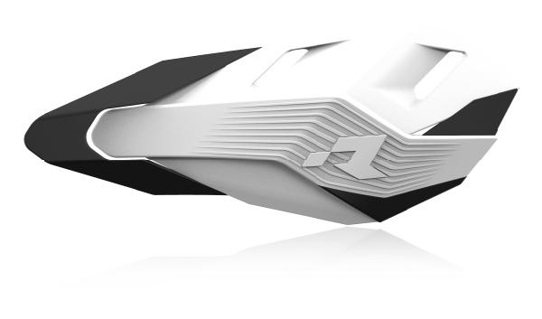 RHP3ENDBNNR0 Protège mains HP3 kit montage inclus blanc/noir