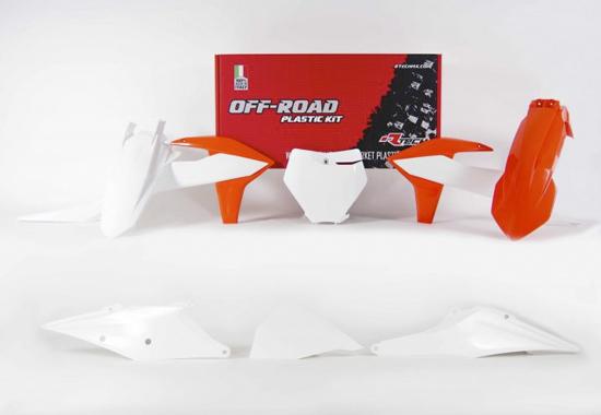 RKITKTMOEM599 Kit plastique 6 pièces Orange Blanc