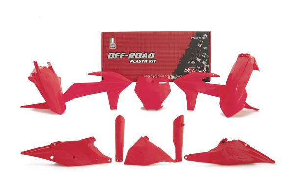 RKITKTMRD0599 kit plastique 7 pièces rouge fluo