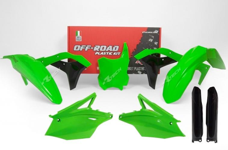 Kits plastique Kawasaki vert fluo