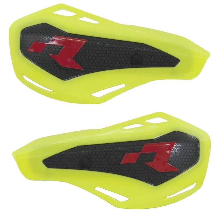 Protège mains jaune fluo HP1 avec kit montage