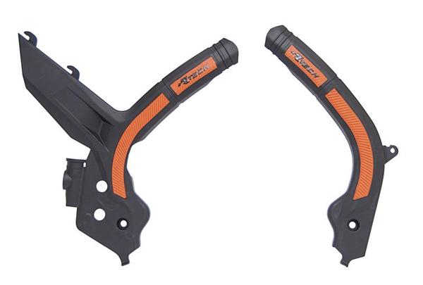 RPRTKTMNRAR2 Protection de cadre bi-matière noir/orange