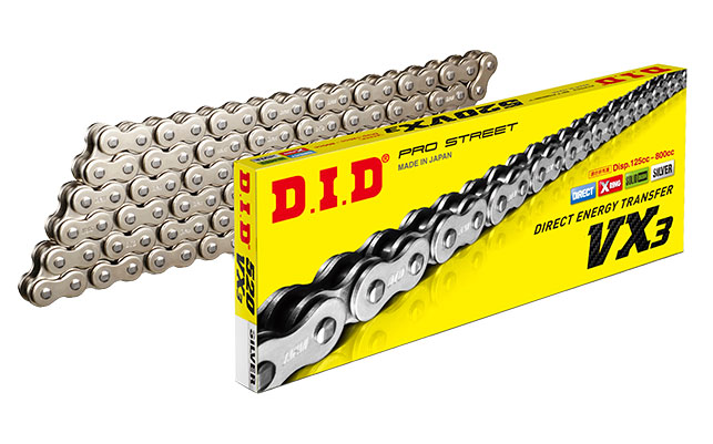 Chaine DID520VX3(S&S) x 118 mail. FJ