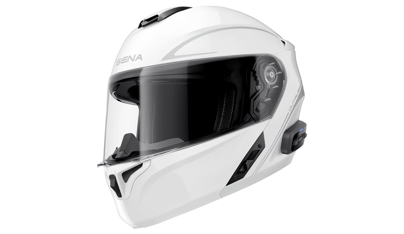 *Casque OUTRUSH R Taille M Bluetooth Blanc Modulable